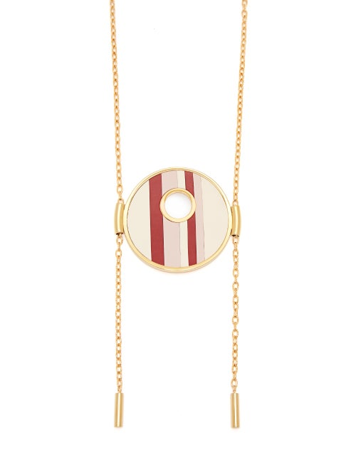 Marni Striped Circle Pendant Necklace OnceOff
