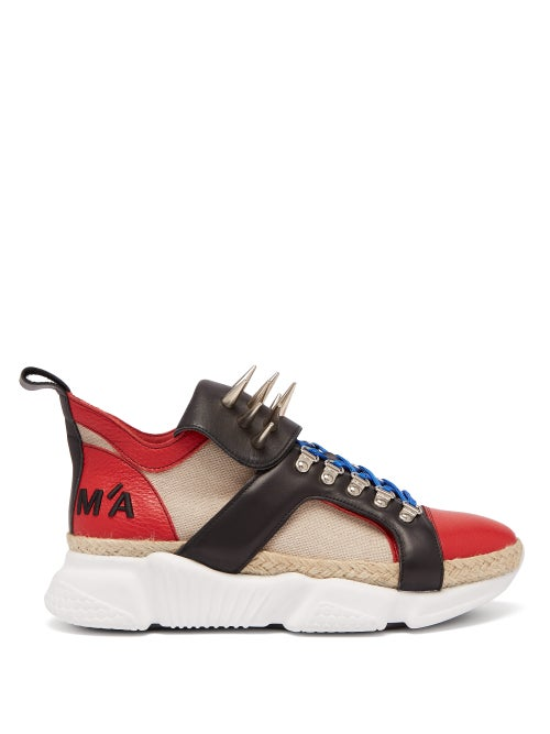 Marques'Almeida Spike Tongue Leather High Top Trainers OnceOff
