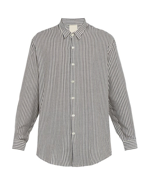 Marrakshi Life Striped Cotton Blend Shirt OnceOff