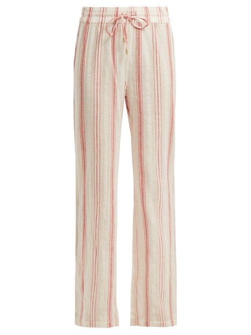 Melissa Odabash Krissy Striped Cotton Trousers OnceOff