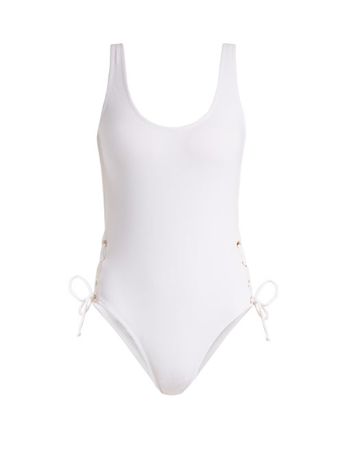Melissa Odabash Venice Scoop Neck Lace Side Swimsuit OnceOff
