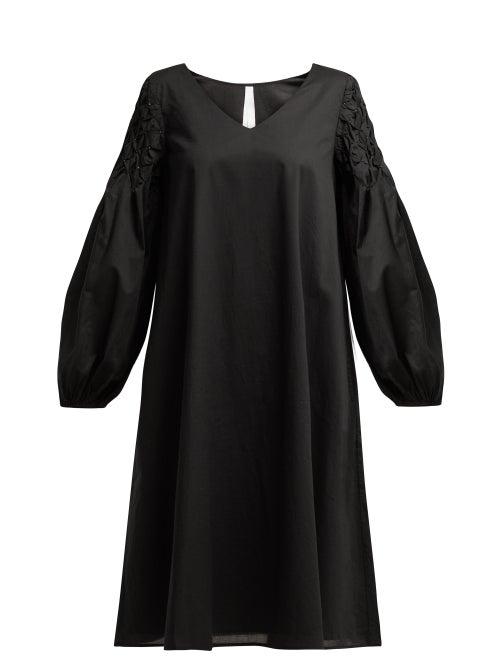 Merlette Black Cotton Smock Dress OnceOff