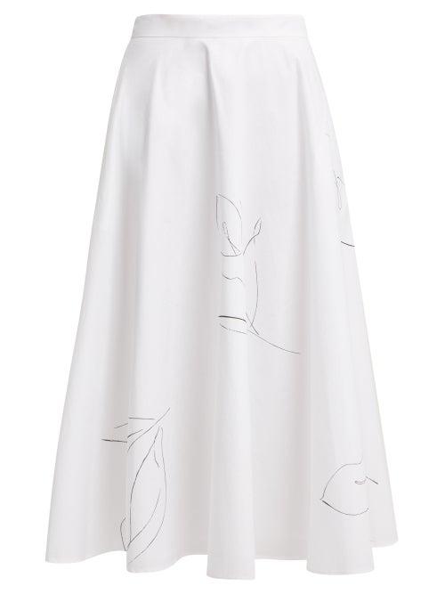 Merlette Kew A Line Cotton Poplin Skirt OnceOff
