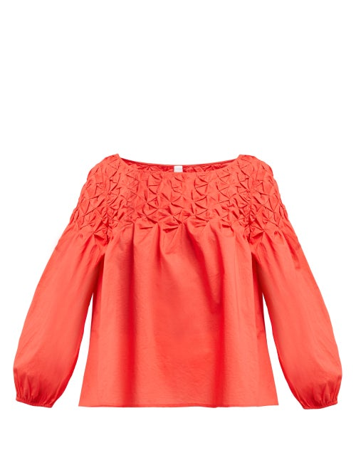 Merlette Songes Smocked Cotton Blouse OnceOff