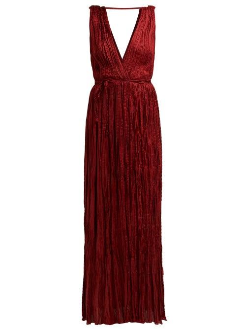 Mes Demoiselles Semsema Crinkled Silk Maxi Dress OnceOff