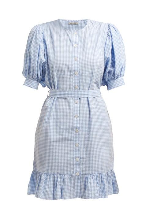 Mes Demoiselles Tropique Gingham Check Cotton Dress OnceOff
