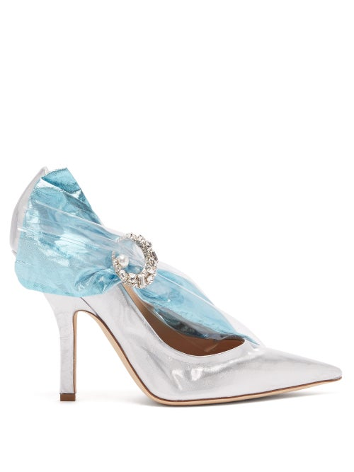 Midnight 00 Crystal Embellished Lamé & Pvc Pumps OnceOff