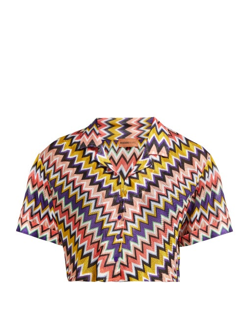 Missoni Mare Zigzag Short Sleeved Cropped Shirt OnceOff