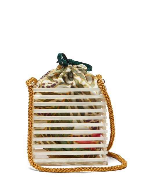 Montunas Vanda Pearlescent Acetate Caged Box Bag OnceOff