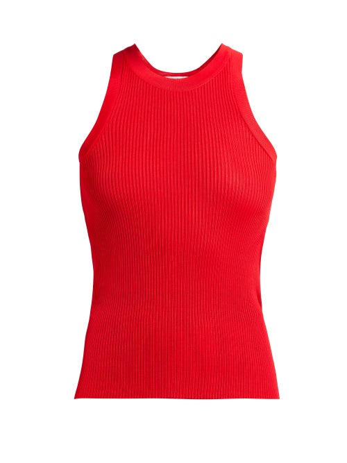 Msgm Ribbed Knit Racer Back Top OnceOff