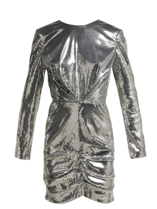 Msgm Sequin Ruched Mini Dress OnceOff