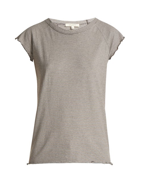 Nili Lotan Baseball Short Sleeved Cotton T Shirt OnceOff