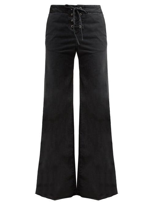 Nili Lotan Lennon High Rise Lace Up Jeans OnceOff