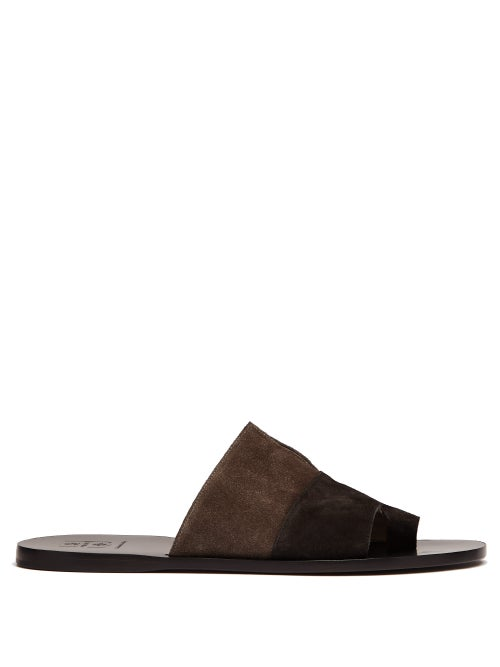 O'Keeffe Bi Colour Suede Sandals OnceOff