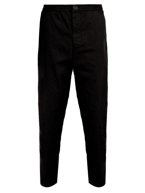 Oliver Spencer Concealed Drawstring Cotton Trousers OnceOff