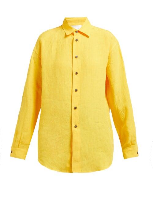 On The Island By Marios Schwab Ransvik Oversized Linen Shirt OnceOff