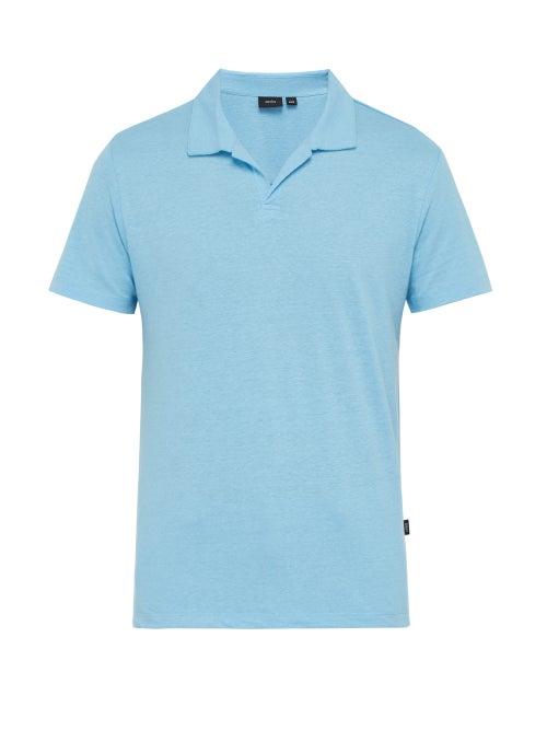Onia Shaun Linen Blend Polo Shirt OnceOff