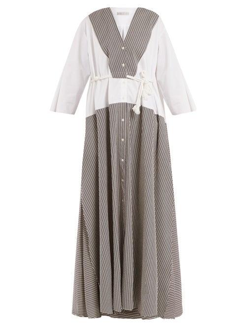 Palmer//Harding Contrast Panel Seersucker Dress OnceOff