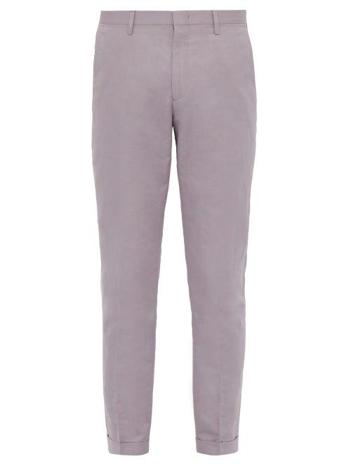 Paul Smith Slim Fit Cotton Blend Poplin Trousers OnceOff
