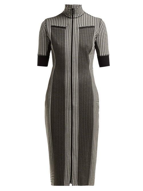 Proenza Schouler Pswl Gingham Zip Through Jersey Dress OnceOff