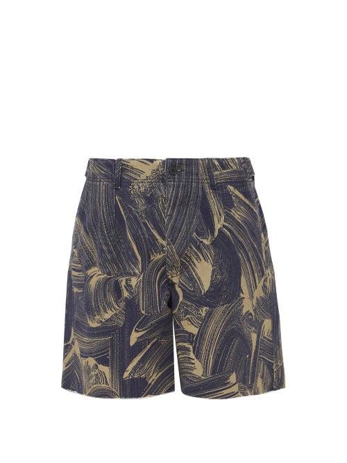 Raey Sponge Print Denim Shorts OnceOff