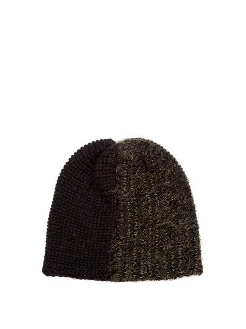 Reinhard Plank Hats Bi Colour Wool Blend Beanie Hat OnceOff