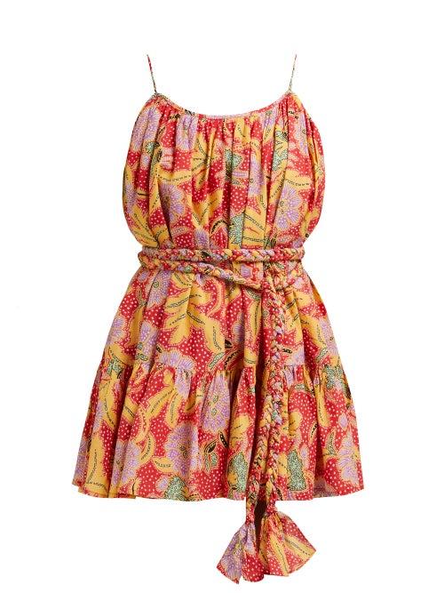 Rhode Nala Belted Floral Print Cotton Dress OnceOff