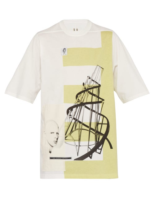 Rick Owens Drkshdw Tatlin's Tower Cotton Jersey T Shirt OnceOff