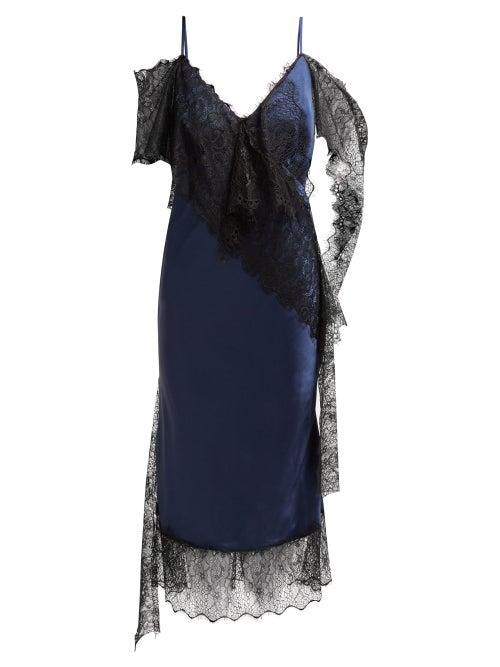 Romance Was Born Devotion Lace Trimmed Satin Dress OnceOff