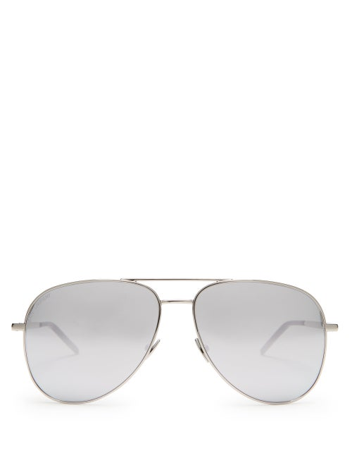 Saint Laurent Aviator Metal Sunglasses OnceOff