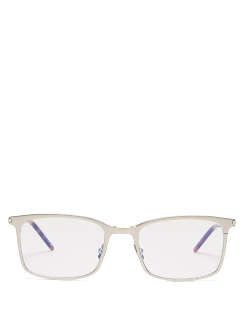 Saint Laurent Square Frame Metal Glasses OnceOff