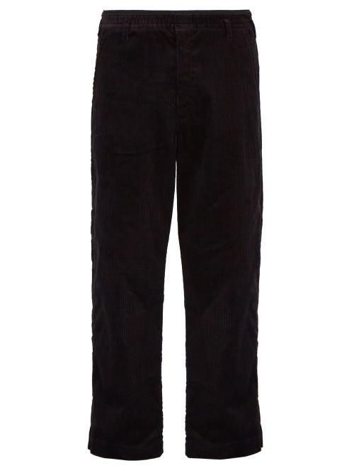 Sasquatchfabrix Side Stripe Cotton Blend Corduroy Trousers OnceOff