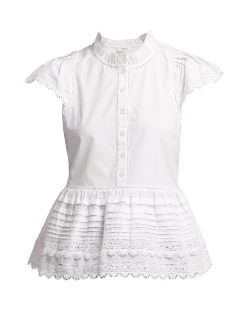 Sea Lilli Ruffle Trimmed Cotton Blouse OnceOff