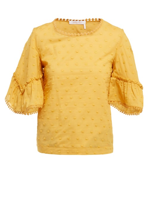 See By Chloé Polka Dot Cotton Top OnceOff