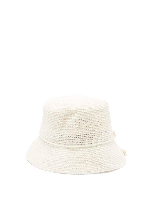 Sensi Studio Hippie Shell Embellished Straw Hat OnceOff