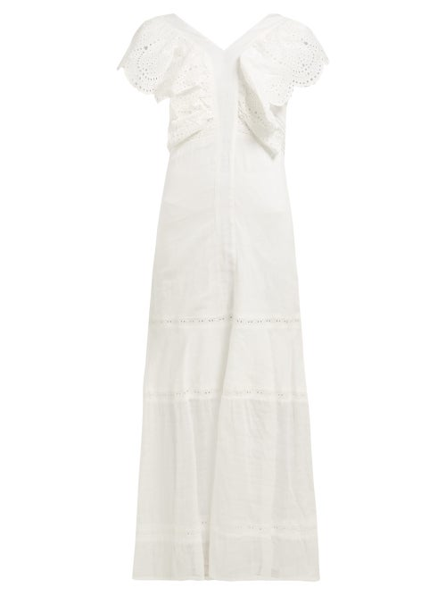 Sir Leila Broderie Anglaise Cotton Voile Maxi Dress OnceOff