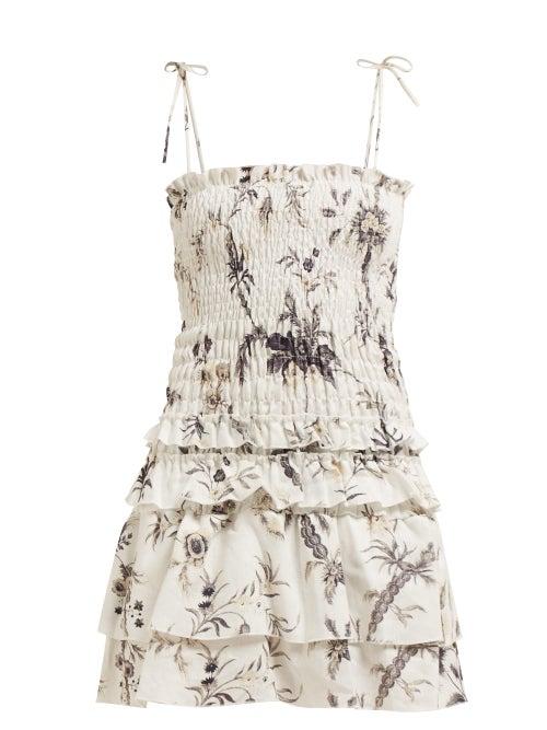 Sir Marle Floral Ruffle Mini Dress OnceOff