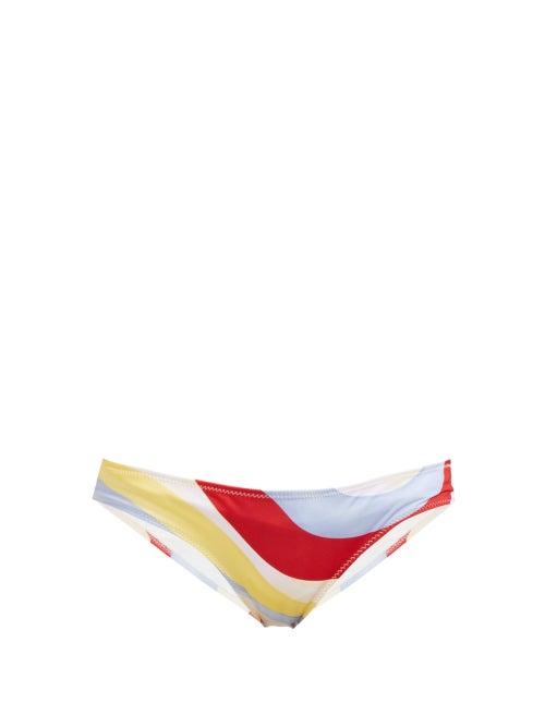 Solid & Striped Elle Wave Print Low Rise Bikini Briefs OnceOff