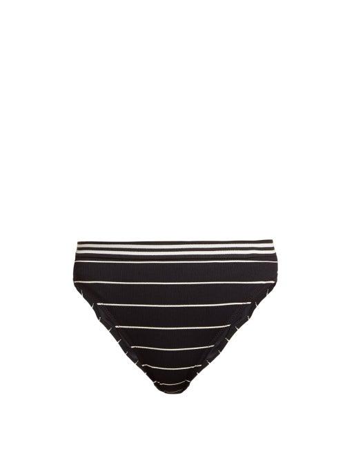 Solid & Striped The Bella Striped High Rise Bikini Briefs OnceOff
