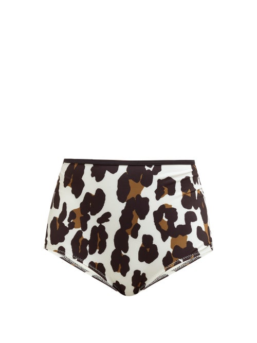 Solid & Striped The Brigitte Leopard Print Bikini Briefs OnceOff