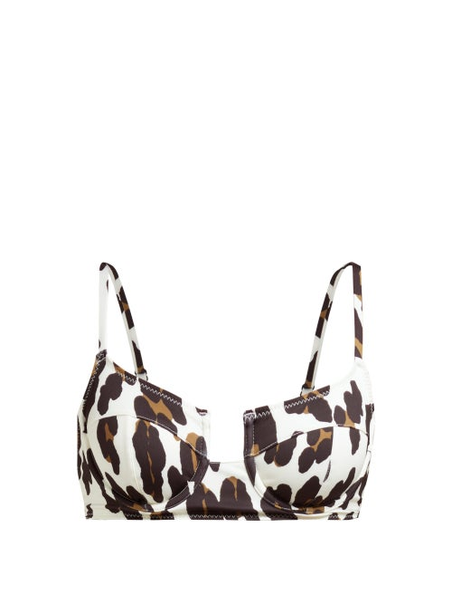 Solid & Striped The Harley Leopard Print Underwire Bikini Top OnceOff