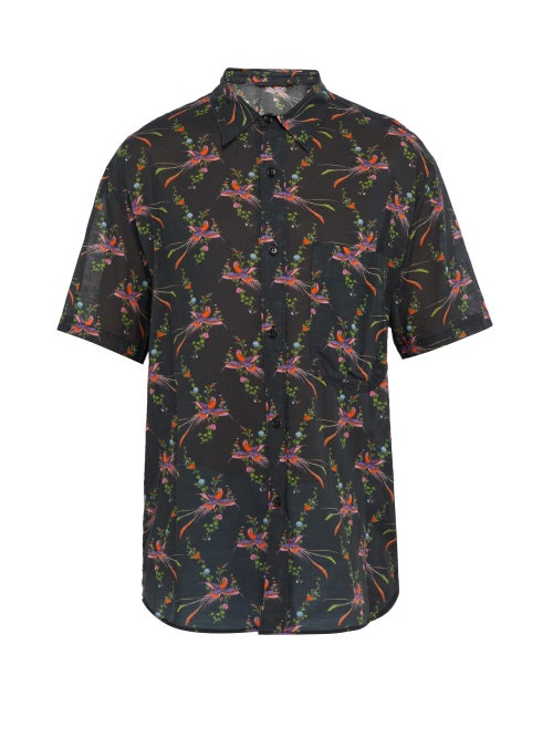 Stella Mccartney Bird Print Cotton Blend Shirt OnceOff