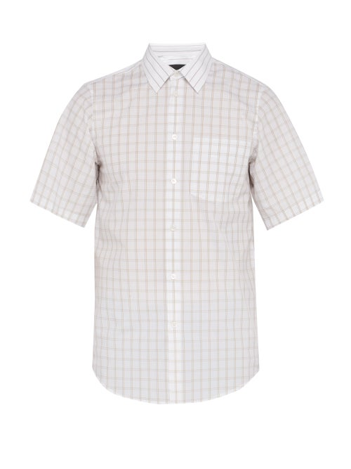 Stella Mccartney Grid Check Short Sleeved Cotton Shirt OnceOff