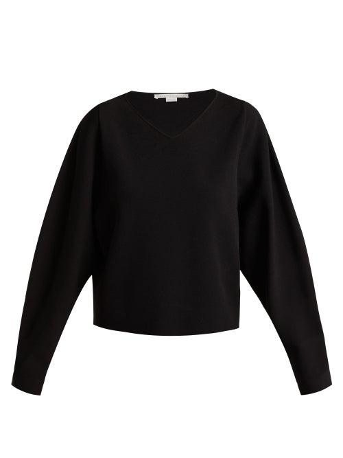 Stella Mccartney V Neck Step Hem Fine Knit Sweater OnceOff