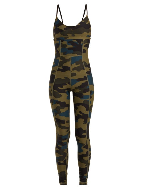 The Upside Camouflage Print Stretch Jersey Bodysuit OnceOff