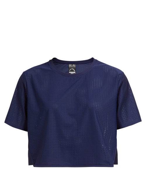 The Upside Track Perforated Cropped T Shirt OnceOff