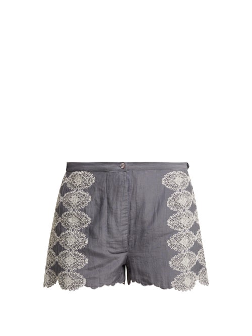 Thierry Colson Armand Lace Embroidered Shorts OnceOff