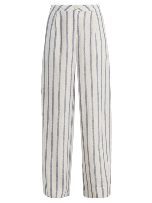 Thierry Colson Biarritz Spugna Wide Leg Striped Trousers OnceOff