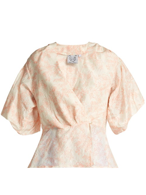 Thierry Colson Mary Floral Print Silk Blouse OnceOff