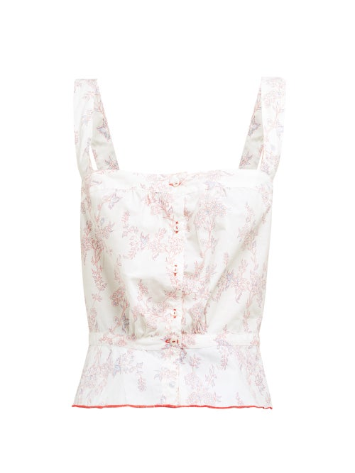 Thierry Colson Rosa Floral Print Cotton Top OnceOff